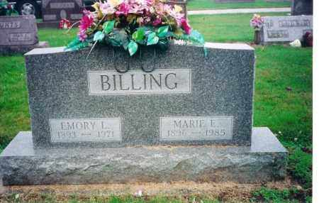 BILLING, MARIE E. - Shelby County, Ohio   MARIE E. BILLING - Ohio Gravestone Photos