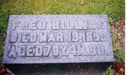 BILLING, FRED - Shelby County, Ohio | FRED BILLING - Ohio Gravestone Photos