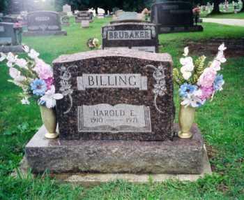 BILLING, HAROLD E. - Shelby County, Ohio | HAROLD E. BILLING - Ohio Gravestone Photos