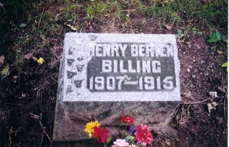 BILLING, HENRY BERTON - Shelby County, Ohio | HENRY BERTON BILLING - Ohio Gravestone Photos