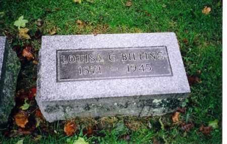 BILLING, LOUISE G. - Shelby County, Ohio | LOUISE G. BILLING - Ohio Gravestone Photos