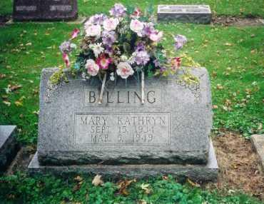 BILLING, MARY KATHRYN - Shelby County, Ohio | MARY KATHRYN BILLING - Ohio Gravestone Photos