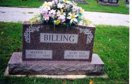 BILLING, MARY EVA - Shelby County, Ohio | MARY EVA BILLING - Ohio Gravestone Photos