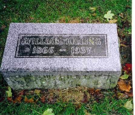 BILLING, WILLIAM - Shelby County, Ohio | WILLIAM BILLING - Ohio Gravestone Photos