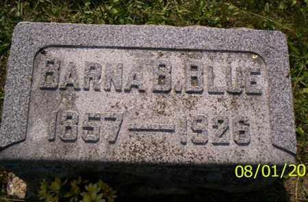 BLUE, BARNA B. - Shelby County, Ohio   BARNA B. BLUE - Ohio Gravestone Photos