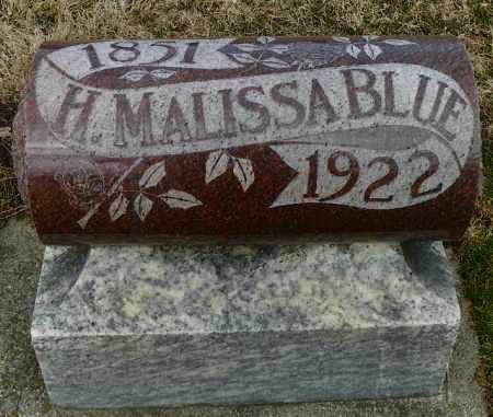 BLUE, H. MALISSA - Shelby County, Ohio   H. MALISSA BLUE - Ohio Gravestone Photos