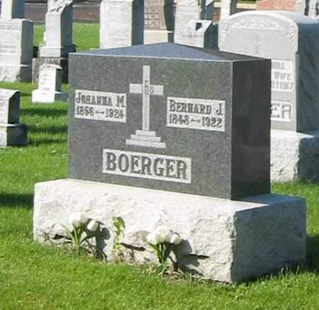 BOERGER, JOHANNA M. - Shelby County, Ohio   JOHANNA M. BOERGER - Ohio Gravestone Photos