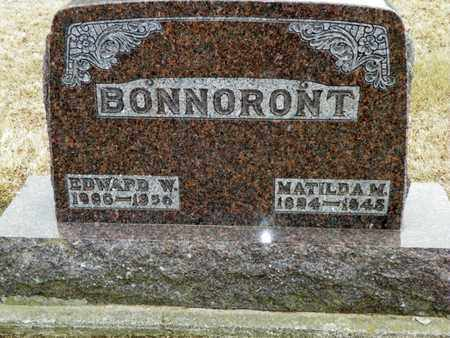 BONNORONT, MATILDA M. - Shelby County, Ohio | MATILDA M. BONNORONT - Ohio Gravestone Photos