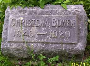 BOWEN, CHRISTENA - Shelby County, Ohio   CHRISTENA BOWEN - Ohio Gravestone Photos