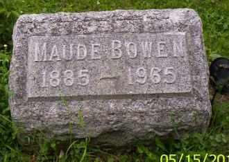 BOWEN, MAUDE - Shelby County, Ohio   MAUDE BOWEN - Ohio Gravestone Photos