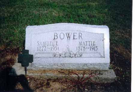 BOWER, SAMUAL E - Shelby County, Ohio   SAMUAL E BOWER - Ohio Gravestone Photos