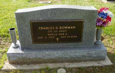 BOWMAN, CHARLES D. - Shelby County, Ohio   CHARLES D. BOWMAN - Ohio Gravestone Photos