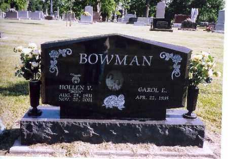 BOWMAN, HOLLEN V. - Shelby County, Ohio   HOLLEN V. BOWMAN - Ohio Gravestone Photos