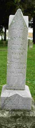 BOYER, CARRIE - Shelby County, Ohio | CARRIE BOYER - Ohio Gravestone Photos