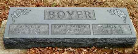 BOYER, ROBERT EMERSON - Shelby County, Ohio | ROBERT EMERSON BOYER - Ohio Gravestone Photos