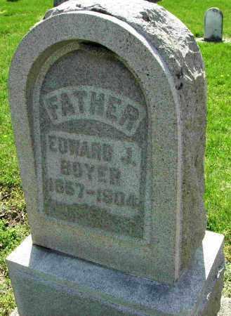 BOYER, EDWARD J. - Shelby County, Ohio | EDWARD J. BOYER - Ohio Gravestone Photos