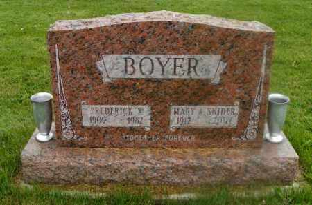 SNIDER BOYER, MARY A. - Shelby County, Ohio | MARY A. SNIDER BOYER - Ohio Gravestone Photos