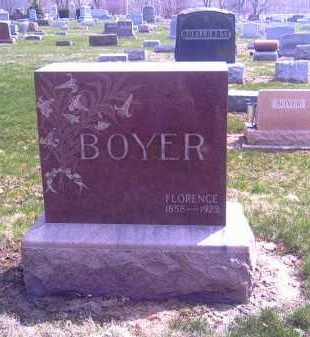 BOYER, FLORENCE - Shelby County, Ohio | FLORENCE BOYER - Ohio Gravestone Photos