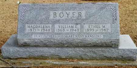 BOYER, ETHEL M. - Shelby County, Ohio | ETHEL M. BOYER - Ohio Gravestone Photos