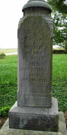 BOYER, MAHALIE - Shelby County, Ohio   MAHALIE BOYER - Ohio Gravestone Photos