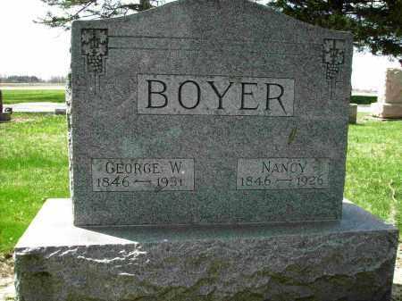 BLUE BOYER, NANCY - Shelby County, Ohio   NANCY BLUE BOYER - Ohio Gravestone Photos