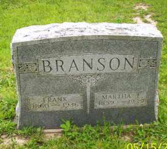 BRANSON, MARTHA E. - Shelby County, Ohio | MARTHA E. BRANSON - Ohio Gravestone Photos