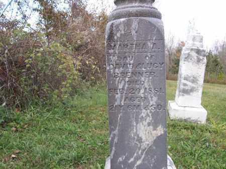 BRENNER, MARTHA - Shelby County, Ohio   MARTHA BRENNER - Ohio Gravestone Photos
