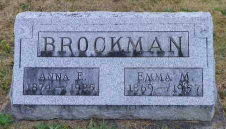 BROCKMAN, ANNE E. - Shelby County, Ohio | ANNE E. BROCKMAN - Ohio Gravestone Photos