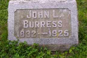 BURRESS, JOHN L. - Shelby County, Ohio | JOHN L. BURRESS - Ohio Gravestone Photos