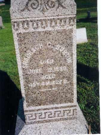 BURTON, SHADRACH G. - Shelby County, Ohio | SHADRACH G. BURTON - Ohio Gravestone Photos