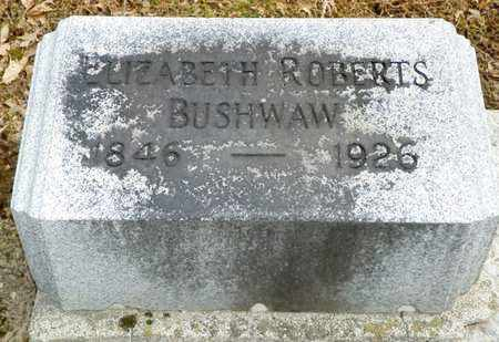 BUSHWAW, ELIZABETH ROBERTS - Shelby County, Ohio   ELIZABETH ROBERTS BUSHWAW - Ohio Gravestone Photos