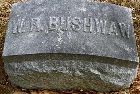 BUSHWAW, W. R. - Shelby County, Ohio   W. R. BUSHWAW - Ohio Gravestone Photos
