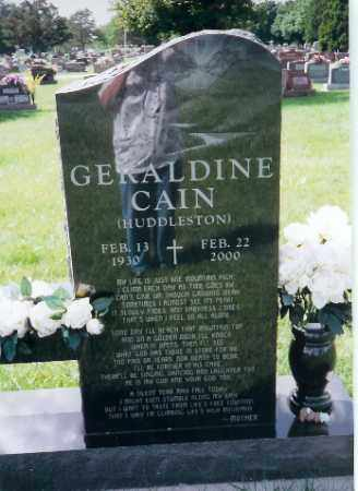 CAIN, GERALDINE - Shelby County, Ohio   GERALDINE CAIN - Ohio Gravestone Photos