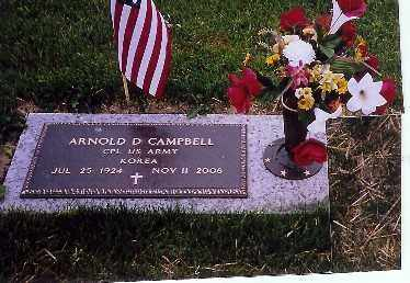 CAMPBELL, ARNOLD D - Shelby County, Ohio | ARNOLD D CAMPBELL - Ohio Gravestone Photos