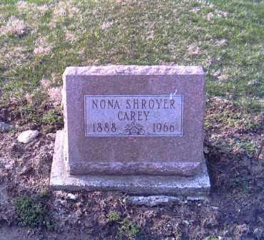 CAREY, NONA - Shelby County, Ohio | NONA CAREY - Ohio Gravestone Photos