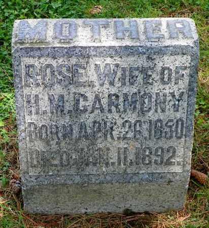 CARMONY, ROSE - Shelby County, Ohio | ROSE CARMONY - Ohio Gravestone Photos