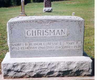 CHRISMAN, MARY E. - Shelby County, Ohio | MARY E. CHRISMAN - Ohio Gravestone Photos