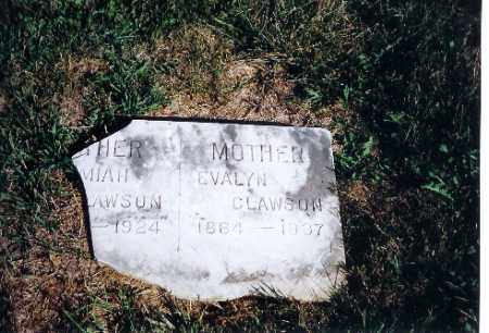 CLAWSON, EVALYN - Shelby County, Ohio | EVALYN CLAWSON - Ohio Gravestone Photos