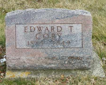 CORY, EDWARD T. - Shelby County, Ohio | EDWARD T. CORY - Ohio Gravestone Photos