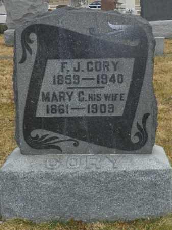 CORY, F. J. - Shelby County, Ohio   F. J. CORY - Ohio Gravestone Photos