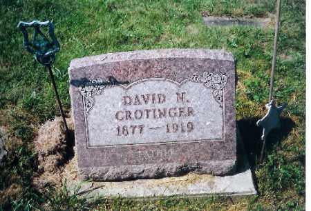 COTINGER, DAVID N - Shelby County, Ohio   DAVID N COTINGER - Ohio Gravestone Photos