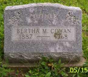 COWAN, BERTHA M. - Shelby County, Ohio | BERTHA M. COWAN - Ohio Gravestone Photos
