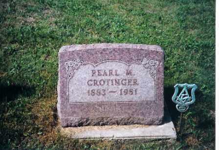 CROTINGER, PEARL M - Shelby County, Ohio | PEARL M CROTINGER - Ohio Gravestone Photos