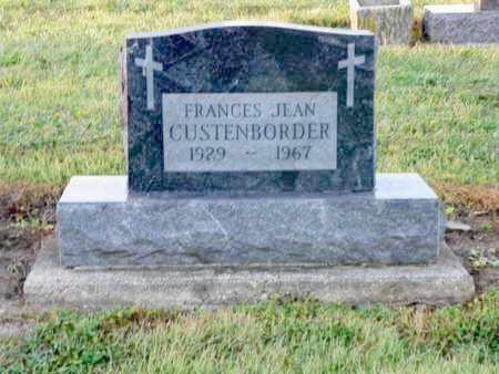 CUSTENBORDER, FRANCES JEAN - Shelby County, Ohio | FRANCES JEAN CUSTENBORDER - Ohio Gravestone Photos