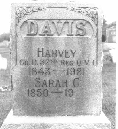 MORRIS DAVIS, SARAH CATHERINE - Shelby County, Ohio | SARAH CATHERINE MORRIS DAVIS - Ohio Gravestone Photos