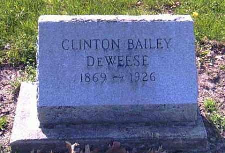DEWEESE, CLINTON BAILEY - Shelby County, Ohio   CLINTON BAILEY DEWEESE - Ohio Gravestone Photos