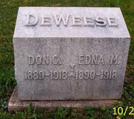 DEWEESE, EDNA M. - Shelby County, Ohio   EDNA M. DEWEESE - Ohio Gravestone Photos