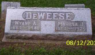 DEWEESE, MARILLA J. - Shelby County, Ohio | MARILLA J. DEWEESE - Ohio Gravestone Photos