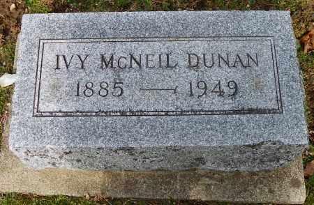 MCNEIL DUNAN, IVY - Shelby County, Ohio | IVY MCNEIL DUNAN - Ohio Gravestone Photos