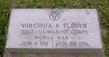 ELSNER, VIRGINIA R. - Shelby County, Ohio   VIRGINIA R. ELSNER - Ohio Gravestone Photos